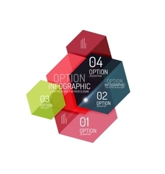 Paper geometric abstract infographic layouts vector