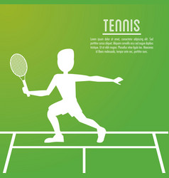 Player of tennis sport design vector