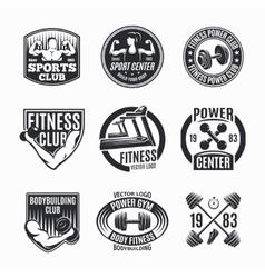Power fitness logo set vector