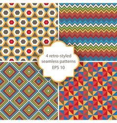 Retro seamless patterns vector
