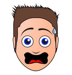 surprised man avatar vector image vector image
