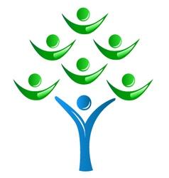 Teamwork as a tree logo vector