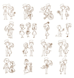 Wedding Doodles vector image vector image