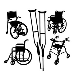 wheelchairs Silhouettes vector image