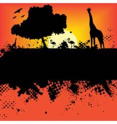 wildlife safari design vector image vector image
