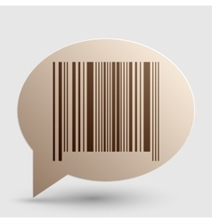 Bar code sign brown gradient icon on bubble with vector