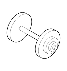 Barbell icon outline style vector image