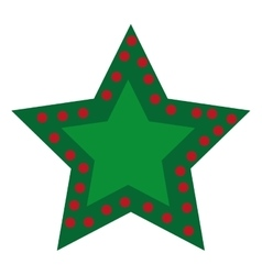 Star decoration christmas icon vector