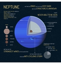 Neptune detailed structure with layers vector