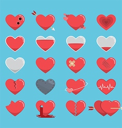 Red hearts icon for valentines day vector