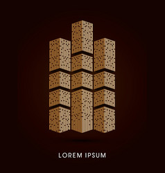 Luxury tower abstract construction vector