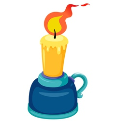 Candlestick with candle vector