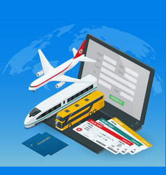 Online purchase or booking of tickets for an vector