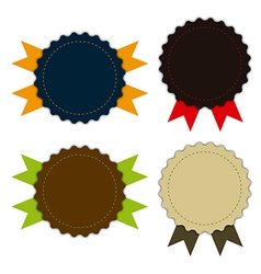 Medal fabric vintage promotions or qualities vector