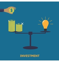 Investment finance icon vector