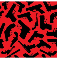 Weapons seamless silhouettes vector