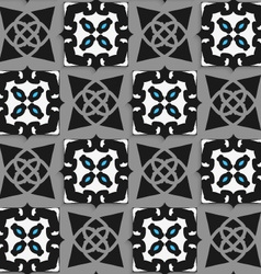 Geometrical arabian ornament black and white with vector