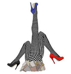 Statue in tribute to fishnet stockings vector