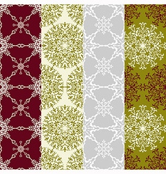 Seamless winter patterns vector