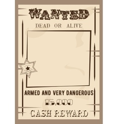 Wanted poster template in vector