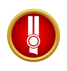 Prize medal icon simple style vector