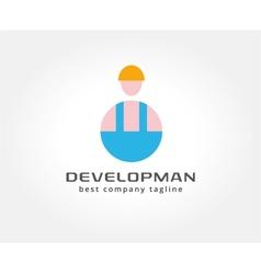 Abstract developer logo icon concept Logotype vector image