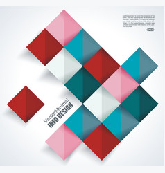 abstract geometric shape from color rhombus vector image vector image