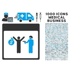 Arrest calendar page icon with 1000 medical vector