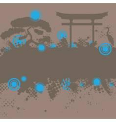 asian style landscape vector image