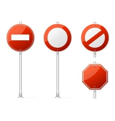 Blank Traffic Sign red vector image vector image
