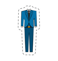 blue suit elegant cartoon vector image