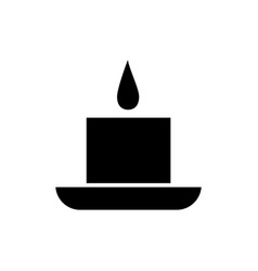 candle spa icon black sign vector image