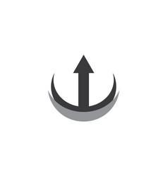 circle arrow logo vector image vector image