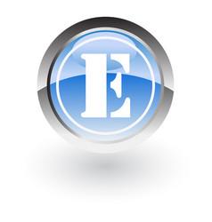 Circle lettre e icon logo vector