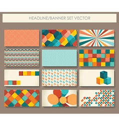 Collection of banners in retro style vector image