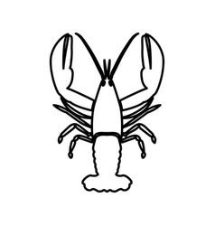 Craw fish black color icon vector