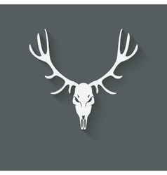 deer skull silhouette vector image vector image