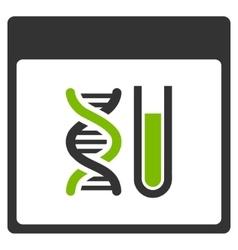 Dna analysis calendar page flat icon vector