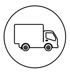 figure symbol delivery car icon vector image
