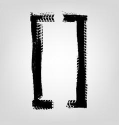 grunge tire glyphs vector image