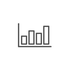Histogram chart line icon financial graph vector