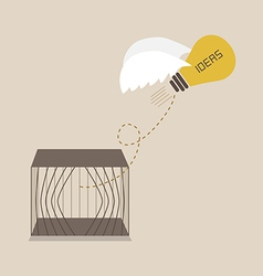 Idea escape form the cage vector image vector image