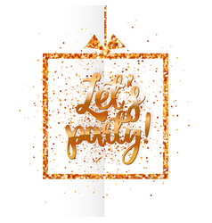 Lets party banner on white vector