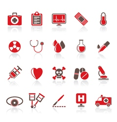 medical tools and health care equipment icons vector image vector image