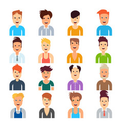 men with different hairstyles vector image vector image