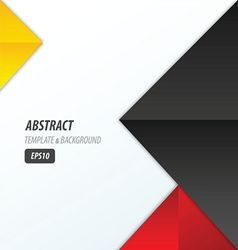 pyramid design template 3 color yellow black red vector image vector image