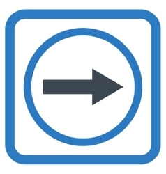 Right rounded arrow flat icon vector