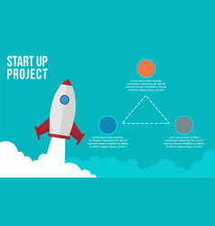 Start up concept business infographic collection vector