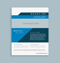 Stylish business brochure design vector