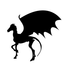 Thestral skeleton horse silhouette mythical animal vector